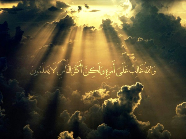 و الله غالب على امره ولكن اكثر الناس لا يعلمون